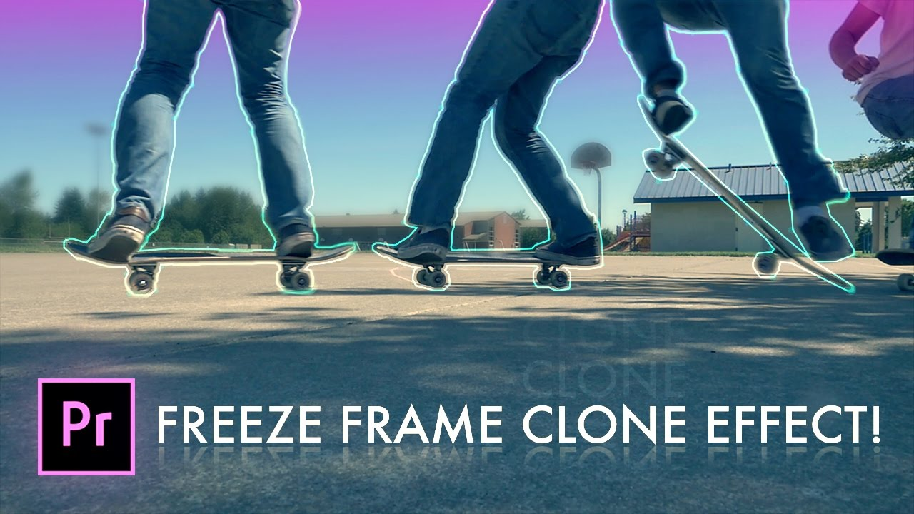 How to FREEZE FRAME CLONE TRAIL Effect in Adobe Premiere Pro (CC ...