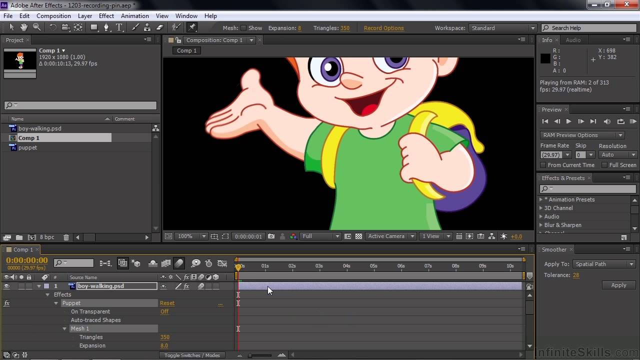 Adobe after effects cc tutorial recording a puppet pin tool adobe after effects cc tutorial recording a puppet pin tool motion adobe lessons baditri Image collections